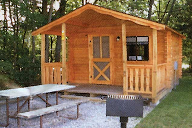 1 Room Cabin cooperstown camping cabins |rental cabins | new york camping