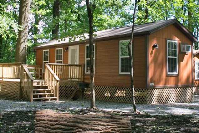 No RV Needed In Our Deluxe Camping Cabins