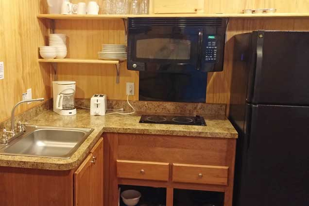 Deluxe Cabin Rental interior kitchen