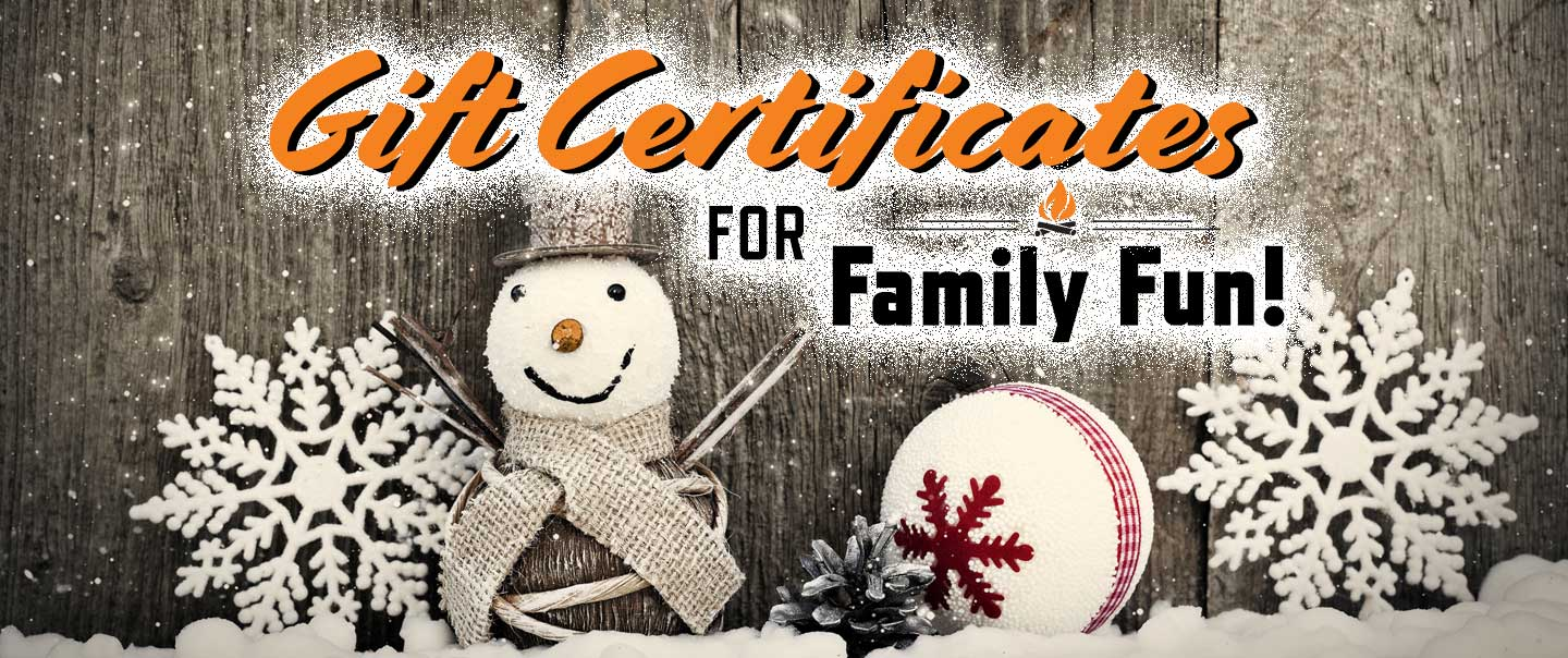 Gift Certificates For Family Fun