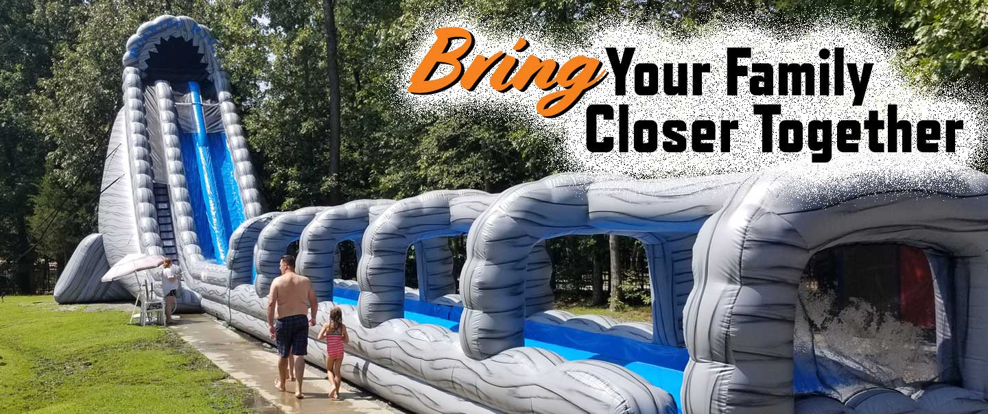 Bring Families Together on an inflatable waterslide