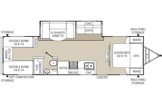 Premium RV rental floorplan diagram